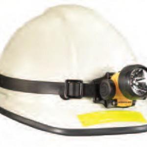 קסדת מגן לבן 6 נק' רצ'ט DUO + פנס ראש מוגן התפוצצות