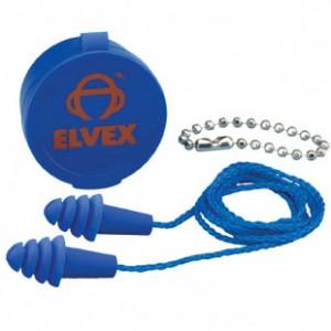 """אטמי אוזניים סיליקון כחול + חוט כחול בקופסה ארה""""ב CE EN352"""