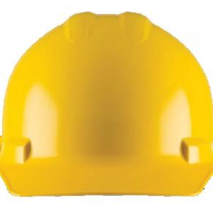 קסדת מגן כובע צהוב 6 נק' רצ'ט DUO