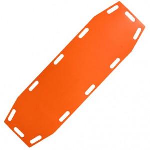 לוח גב גמיש לחילוץ, על הלוח ידיות לנשיאה נוחה, ניתן לכופף את הלוח בקלות