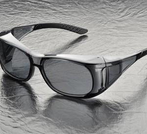 """משקפי מגן כהים להרכבה על משקפי ראיה ELVEX משקפי שמש פטנט להרכבה על משקפי מרשם רגילות - """"הכי נוח והכי בטוח"""""""