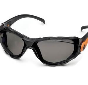 """משקפי מגן אופנתיות מאווררות ארה""""ב עדשות כהות מסגרת שחורה"""