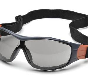 """משקפי מגן אופנתיות מאווררות ארה""""ב עדשות כהות מסגרת שחורה עם גומי"""