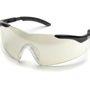 """משקפי מגן אופנתיות ארה""""ב ELVEX עדשות מראה בהירות מסגרת שחורה"""