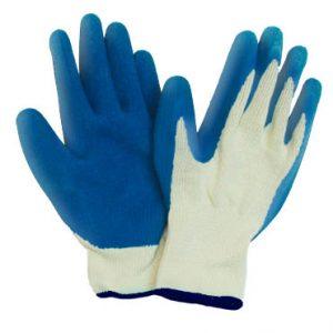 כפפות עבודה ליקרה לבן עם ציפוי ניטריל כחול