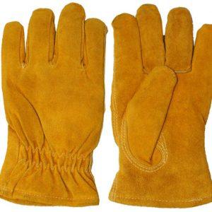 כפפות לעבודה בקור צהוב פרווה פנימית