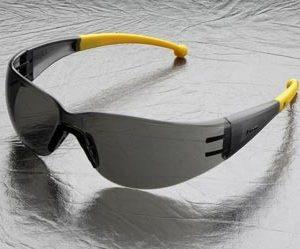 """משקפי מגן קלות עדשה כהה תמיכת אף זרוע גמישה צהוב ארה""""ב DKR ELVEX Atom SG-400G"""