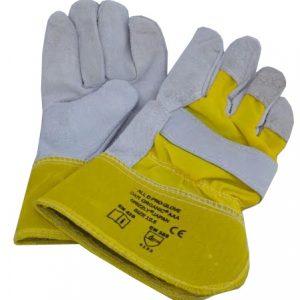 כפפות עבודה מגן ורידים צהוב מידה 10.5 – EN 388 DKR